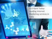 SEO Rank TodayLeading Internet Marketing services in India