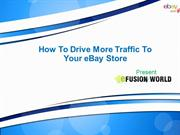 How To Drive More Traffic To Your eBay Store