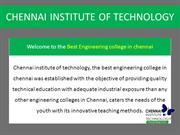 CHENNAI INSTITUTE OF TECHNOLOGY ppt