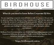 What do you need to know Before Corporate DJ Hire