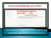 how to fix bitdefender error 1002