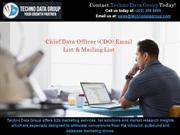 CDO Email Lists | CDO Mailing Lists | CDO Email Database