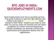 Latest bpo jobs in India