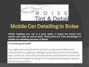 4 Uses of Mobile Car Detailing in Boise
