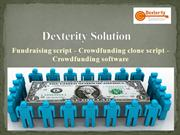 Fundraising script - Crowdfunding clone script - Crowdfunding software