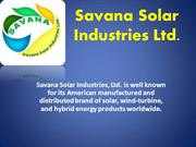 Solar Energy Solutions by Savana Solar
