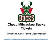 Milwaukee Bucks Tickets Discount
