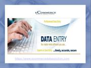 Ecommerce Data Solution - Data Entry Services Provider Company India