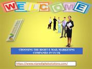 choosing the Right E-mail Marketing Companies in US-UK