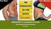 Underground Fat Loss Manual PDF EBook | Free Download Special Report