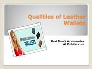Qualities of Leather Wallets