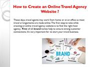 How to create online travel agency