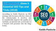 Guido Paniccia Gives 5 Essential SEO Tips and Tricks (2018)