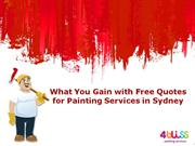 What You Gain with Free Quotes for Painting Services in Sydney