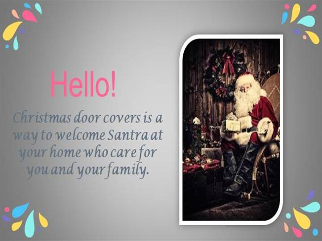 Beautiful Christmas Door Covers At Doorfoto Authorstream