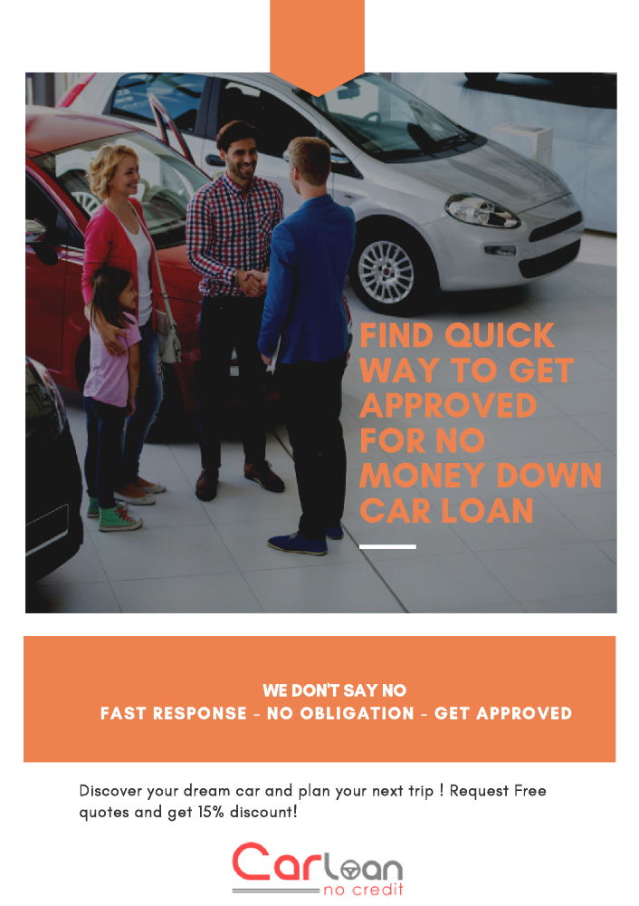 Car Loan No Money Down Bad Credit Thing You Should Remember