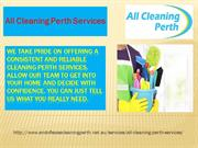 All Cleaning Perth Services