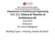FUE Theory 4 2018 - Lecture - Building Types – Residential