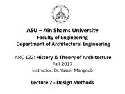 ASU History and Theory-Lecture 3b-Based Design Method 21-10-2017