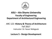 ASU History and Theory-Lecture 5-Design Development 18-11-2017