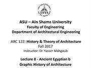 ASU History and Theory-Lecture 8-Ancient Egyptian b 23-12-2017