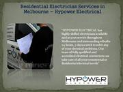 Residential Electrician Services in Melbourne - Hypower Electrical