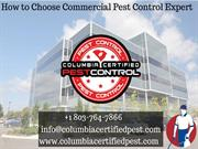 How to Choose Pest Control Company at Lexington SC?