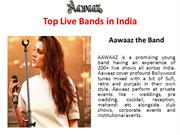 Top Live Bands in India || Live Bands for Corporate Event