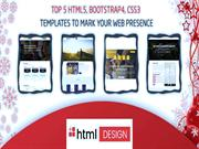 Top 5 HTML5, BoostStrap4, CSS3 Templates to Mark your Web Presence