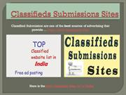Classifieds Submissions Sites