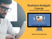 Business Analyst Certification Course | BA Online Training