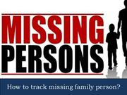 How to track missing family person