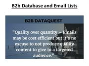 B2b Database and Email Lists