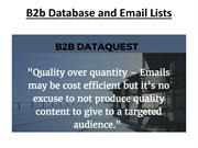 B2b Database and Email Lists-pdf