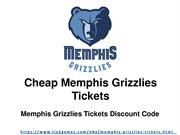 Discounted Memphis Grizzlies Tickets