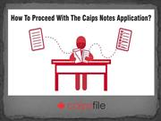 How to Proceed With the CAIPS Notes Application