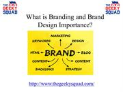 What is Branding and Brand Design Importance