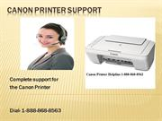 canon printer support number 1-888-868-8563