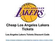 Discount Los Angeles Lakers Tickets