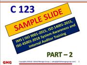 IMS training ppt as per ISO 9001, ISO 14001, ISO 45001