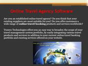 Online Travel Agency Software