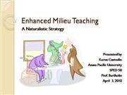Enhanced Milieu Teaching