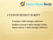 Custom t-shirt design software - Online custom t-shirt design script-
