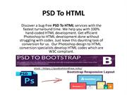 Get the best services for your PSD to html5 conversion