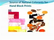 Source of Natural Colorants for Hand Block