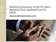 Wedding Ceremony Script For Each Wedding Type (Updated List For 2018)