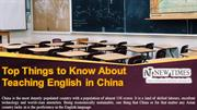 Top Things to Know About Teaching English in China