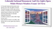 Colorado National Monument And City Lights Open White Picture Window F