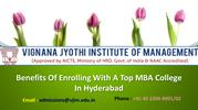 Benefits Of Enrolling With A Top MBA College In Hyderabad