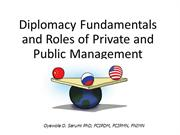 Diplomacy Fundamentals and Roles of Private and Public Management